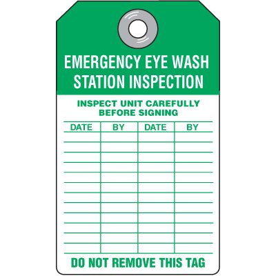 Emergency Eyewash Station Tag
