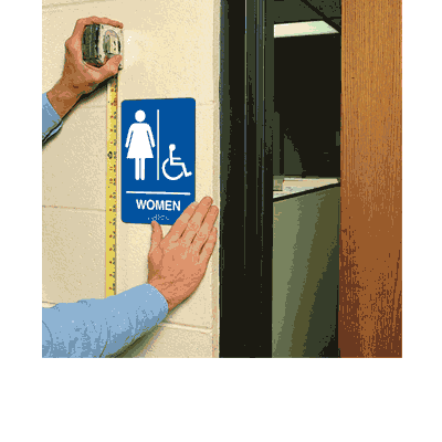 Economy Braille Signs - Women