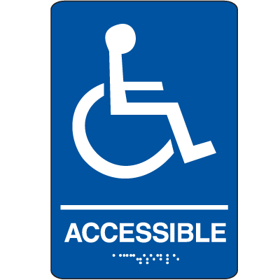 Economy Braille Signs  - Accessible