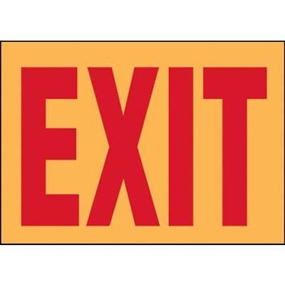 Fluorescent Glow Emergency Exit Labels