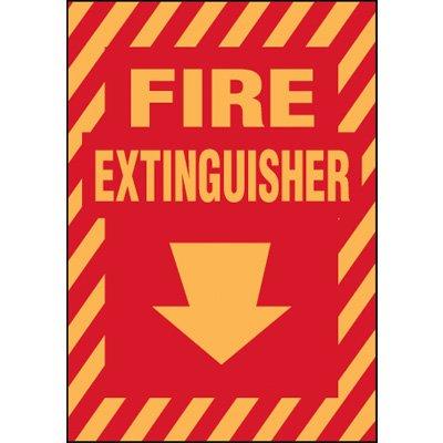 Standard Fire Extinguisher (Down Arrow) Label