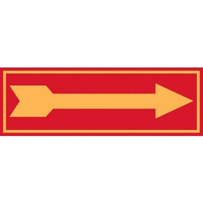 Fluorescent Glow Arrow Right Label
