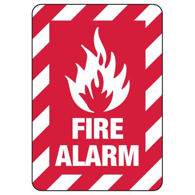 Fire Alarm (With Graphic) - Fire Equipment Signs