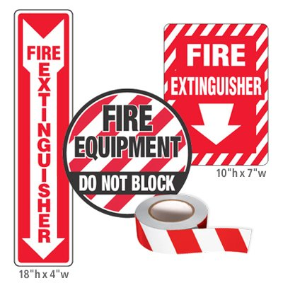Fire Equipment Identification Kits  - Fire Extinguisher