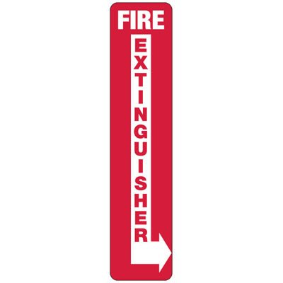 Slim-Line Fire Extinguisher (Right Arrow) Signs