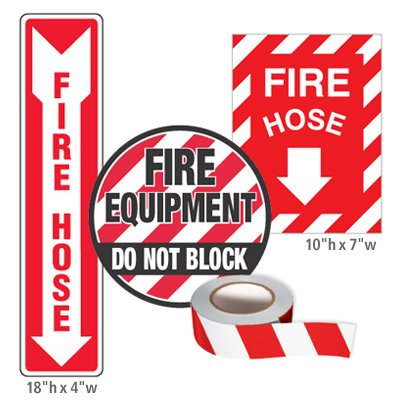 Fire Equipment Identification Kits - Fire Hose