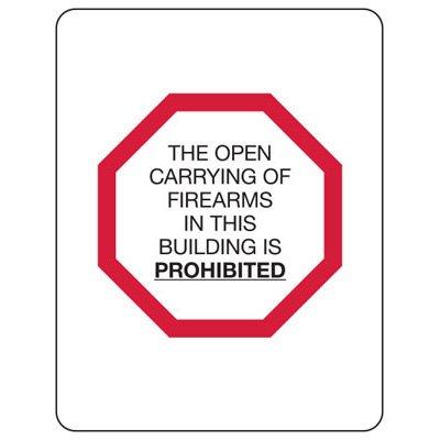 Kansas Firearm Signs - Open Carrying Of Firearms
