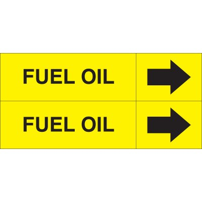 Fuel Oil - Weather-Code™ Self-Adhesive Outdoor Pipe Markers