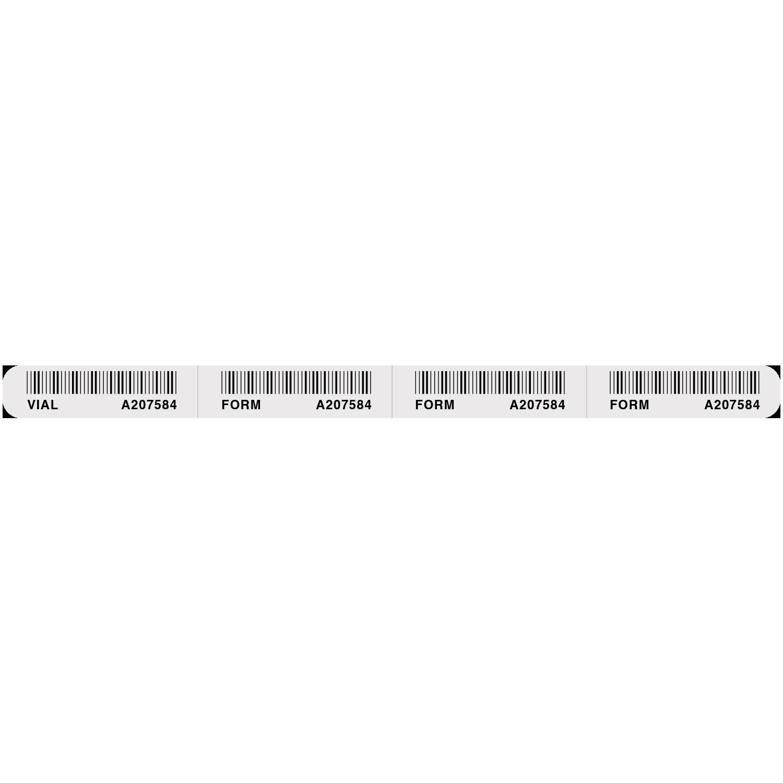 Four-Part Bar Code Labels
