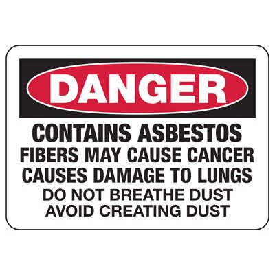 Mandatory GHS Safety Signs - Danger Contains Asbestos