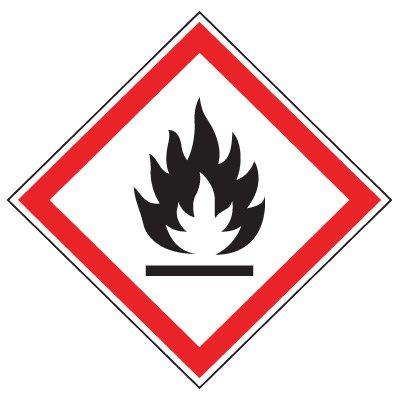 GHS Mini Pictogram Label Sheets - Flammable