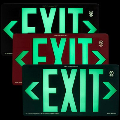 Jessup Glo Brite Photoluminescent UL924 PM100 Exit Sign
