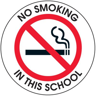 No Smoking In School Door and Window Labels