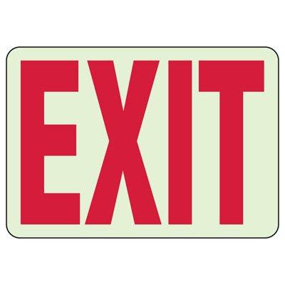 Luminous Exit Signs