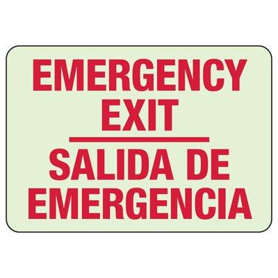 Bilingual Exit Glow Sign