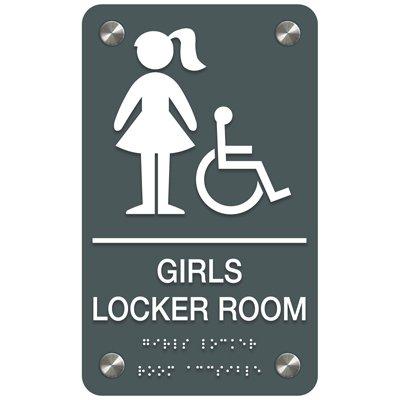Girls' Locker Room (Accessibility) - Premium ADA Facility Signs