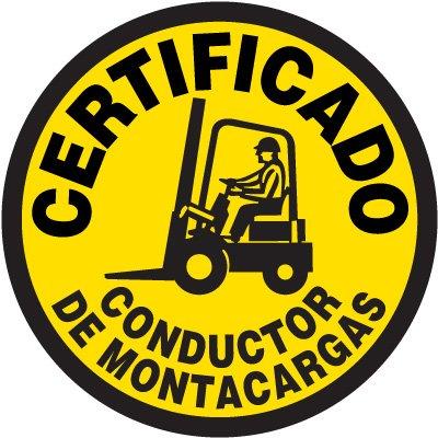 Safety Training Labels - Certificado Conductor De Montacargas
