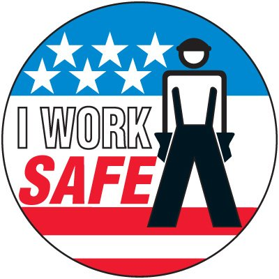 Safety Training Labels - I Work Safe