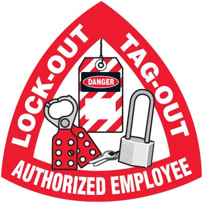 Safety Training Labels - Lock-Out Tag-Out Authorized Employee