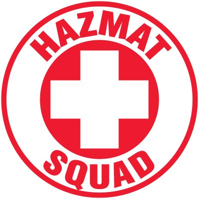 Safety Training Labels - Hazmat Squad