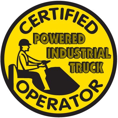 Safety Training Labels - Certified Powered Industrial Truck Operator