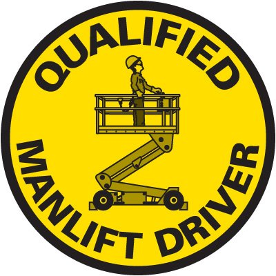 Safety Training Labels - Qualified Manlift Driver