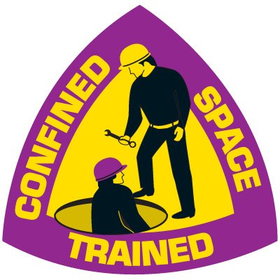 Safety Training Labels - Confined Space Trained