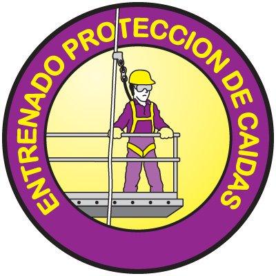 Safety Training Labels - Entrenado Proteccion De Caidas