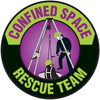 Safety Training Labels - Confined Space Rescue Team
