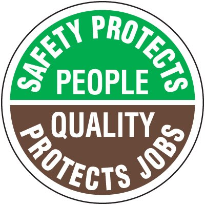 Safety Training Labels - Safety Protects People