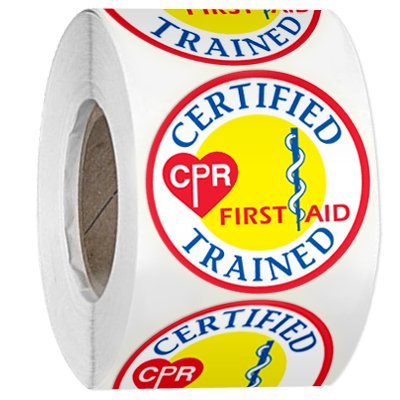 Hard Hat Safety Labels On A Roll - Certified CPR First Aid Trained