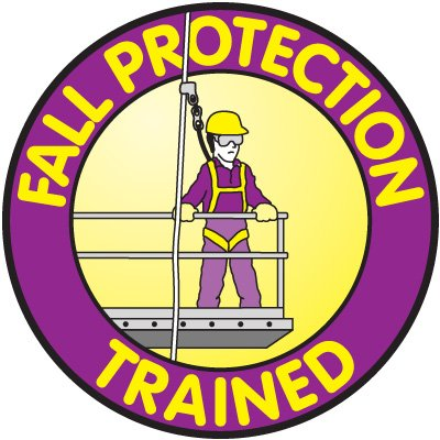 Safety Training Labels - Fall Protection Trained
