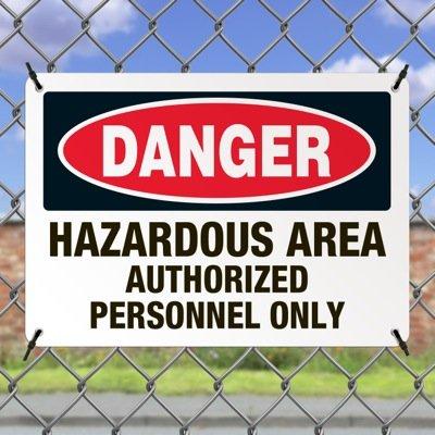 Hazardous Work Zone Mining Signs - Danger Hazardous Area Authorized Personnel Only