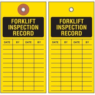 Forklift Inspection Tyvek Tag