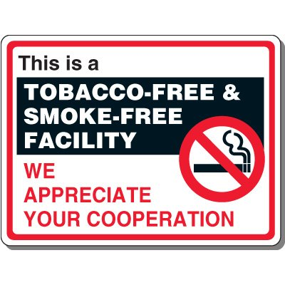Tobacco & Smoke-Free Facility Sign