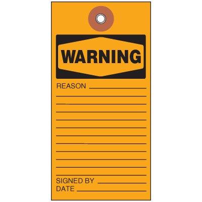 Warning Tyvek Tag