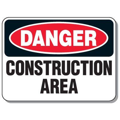 Hazardous Work Zone Mining Signs - Danger Construction Area
