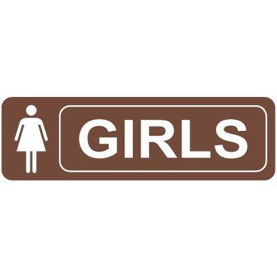 Girls Restroom Signs