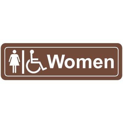 Women's Handicap Restroom Signs