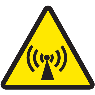 ISO Warning Symbol Labels - Radio Frequency Hazard