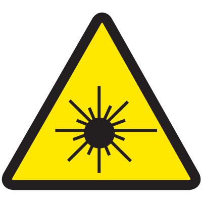 ISO Warning Symbol Labels - Laser