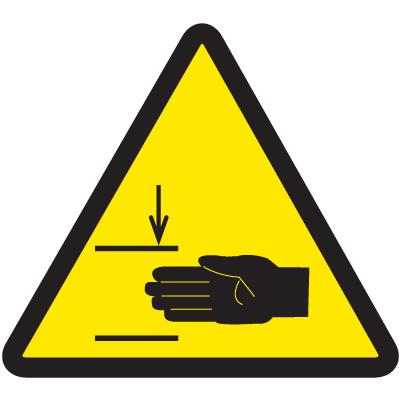 ISO Warning Symbol Labels - Mind Your Hands