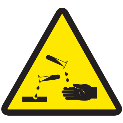 ISO Warning Symbol Labels - Acid