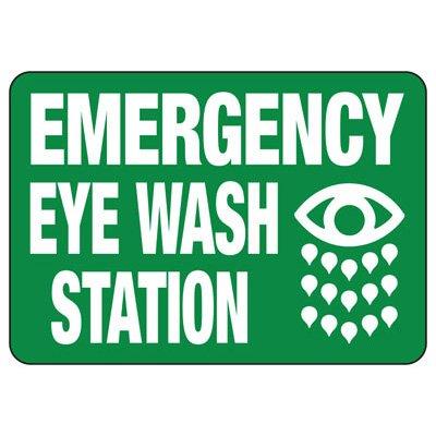 Emergency Eyewash Station Sign