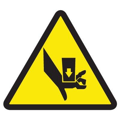 ISO Warning Symbol Labels - Crush Hazard