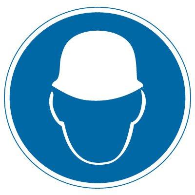 International Symbol Labels - Wear Head Protection