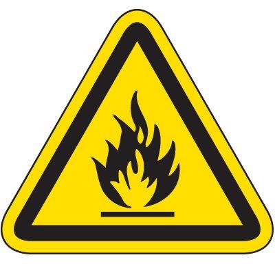 International Symbol Labels - Flammable Material