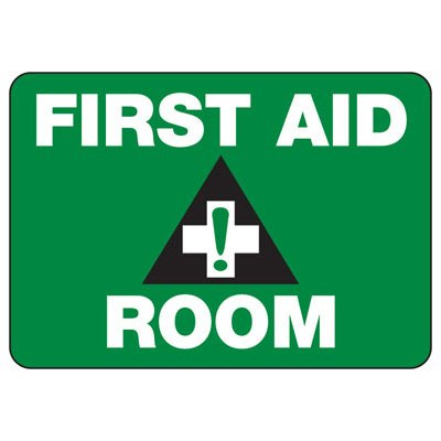 Shower, Eyewash & First Aid Signs - First Aid Room