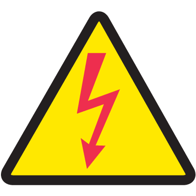 ISO Warning Symbol Labels - High Voltage