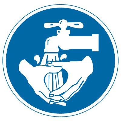 International Symbol Labels - Wash Hands